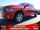 2014 Flame Red Ram 1500 Sport Crew Cab #87274579