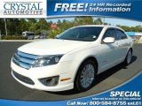 2010 White Platinum Tri-coat Metallic Ford Fusion Hybrid #87274713