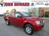 2013 Lava Red Nissan Frontier SV V6 Crew Cab 4x4 #87274701