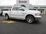 2014 Bright White Ram 1500 Laramie Crew Cab 4x4 #87307770
