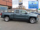 2014 Blue Granite Metallic Chevrolet Silverado 1500 LT Double Cab 4x4 #87307693