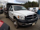 2007 Bright White Dodge Ram 3500 ST Regular Cab 4x4 Dump Truck #87341790