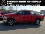 2014 Flame Red Ram 1500 Big Horn Quad Cab 4x4 #87341868