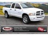 2004 Bright White Dodge Ram 1500 Laramie Quad Cab 4x4 #87341743