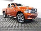 2009 Sunburst Orange Pearl Dodge Ram 1500 Sport Quad Cab 4x4 #87342116