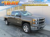 2014 Brownstone Metallic Chevrolet Silverado 1500 LTZ Z71 Double Cab 4x4 #87380392