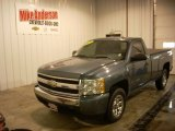2007 Blue Granite Metallic Chevrolet Silverado 1500 Work Truck Regular Cab #87380930