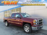 2014 Deep Ruby Metallic Chevrolet Silverado 1500 LTZ Z71 Double Cab 4x4 #87380397
