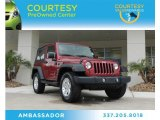 2011 Deep Cherry Red Crystal Pearl Jeep Wrangler Sport 4x4 #87380729