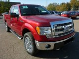 2013 Ruby Red Metallic Ford F150 XLT SuperCab 4x4 #87380573