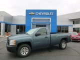 2008 Blue Granite Metallic Chevrolet Silverado 1500 Work Truck Regular Cab 4x4 #87418937