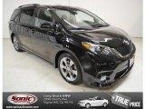 2011 Black Toyota Sienna SE #87419040