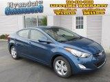 2013 Windy Sea Blue Hyundai Elantra GLS #87418569