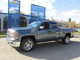 2014 Blue Granite Metallic Chevrolet Silverado 1500 LT Double Cab 4x4 #87457512