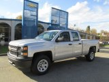 2014 Silver Ice Metallic Chevrolet Silverado 1500 WT Double Cab 4x4 #87457511