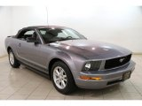 2007 Tungsten Grey Metallic Ford Mustang V6 Deluxe Convertible #87457769