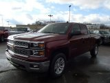 2014 Deep Ruby Metallic Chevrolet Silverado 1500 LT Double Cab 4x4 #87493870
