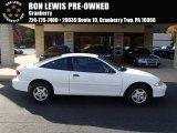 2002 Bright White Chevrolet Cavalier Coupe #87518090