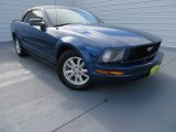 2007 Vista Blue Metallic Ford Mustang V6 Premium Convertible #87523787