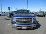 2014 Blue Topaz Metallic Chevrolet Silverado 1500 LTZ Z71 Crew Cab 4x4 #87523868