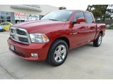 2010 Inferno Red Crystal Pearl Dodge Ram 1500 Sport Crew Cab #87523835