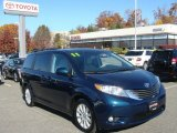 2011 South Pacific Blue Pearl Toyota Sienna XLE AWD #87523793