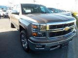 2014 Brownstone Metallic Chevrolet Silverado 1500 LTZ Z71 Double Cab 4x4 #87523876