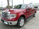 2013 Ruby Red Metallic Ford F150 Lariat SuperCrew 4x4 #87568861