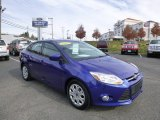 2012 Sonic Blue Metallic Ford Focus SE Sedan #87568968