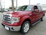 2013 Ruby Red Metallic Ford F150 Lariat SuperCrew #87568856