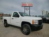 2008 Summit White Chevrolet Silverado 1500 Work Truck Regular Cab 4x4 #87569239