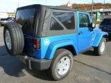 2014 Jeep Wrangler Hydro Blue Pearl Coat