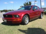 2005 Redfire Metallic Ford Mustang V6 Deluxe Coupe #87618574