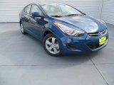 2013 Windy Sea Blue Hyundai Elantra GLS #87618199
