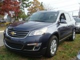 2013 Atlantis Blue Metallic Chevrolet Traverse LT #87618078
