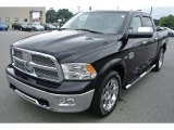 2012 Black Dodge Ram 1500 Laramie Longhorn Crew Cab 4x4 #87618391