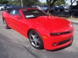 2014 Red Hot Chevrolet Camaro LT Convertible #87666197