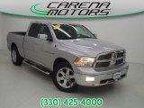 2011 Bright Silver Metallic Dodge Ram 1500 Laramie Quad Cab 4x4 #87666196