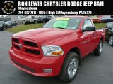 2012 Flame Red Dodge Ram 1500 Express Regular Cab 4x4 #87665905