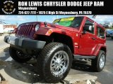 2012 Deep Cherry Red Crystal Pearl Jeep Wrangler Sahara 4x4 #87665903