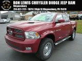 2011 Deep Cherry Red Crystal Pearl Dodge Ram 1500 Sport Crew Cab 4x4 #87665902