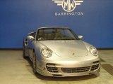2008 GT Silver Metallic Porsche 911 Turbo Cabriolet #87665502
