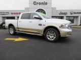 2014 Bright White Ram 1500 Laramie Longhorn Crew Cab 4x4 #87665863