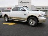 2014 Bright White Ram 1500 Laramie Longhorn Crew Cab 4x4 #87665859