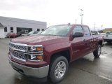 2014 Deep Ruby Metallic Chevrolet Silverado 1500 LT Double Cab 4x4 #87665830