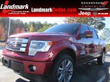 2013 Ruby Red Metallic Ford F150 Limited SuperCrew 4x4 #87714147