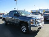 2014 Blue Granite Metallic Chevrolet Silverado 1500 LT Double Cab 4x4 #87714343