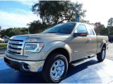 2013 Pale Adobe Metallic Ford F150 Lariat SuperCab 4x4 #87714025