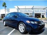 2007 Royal Blue Pearl Honda Civic EX Sedan #87713935