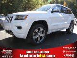 2014 Bright White Jeep Grand Cherokee Overland #87714093